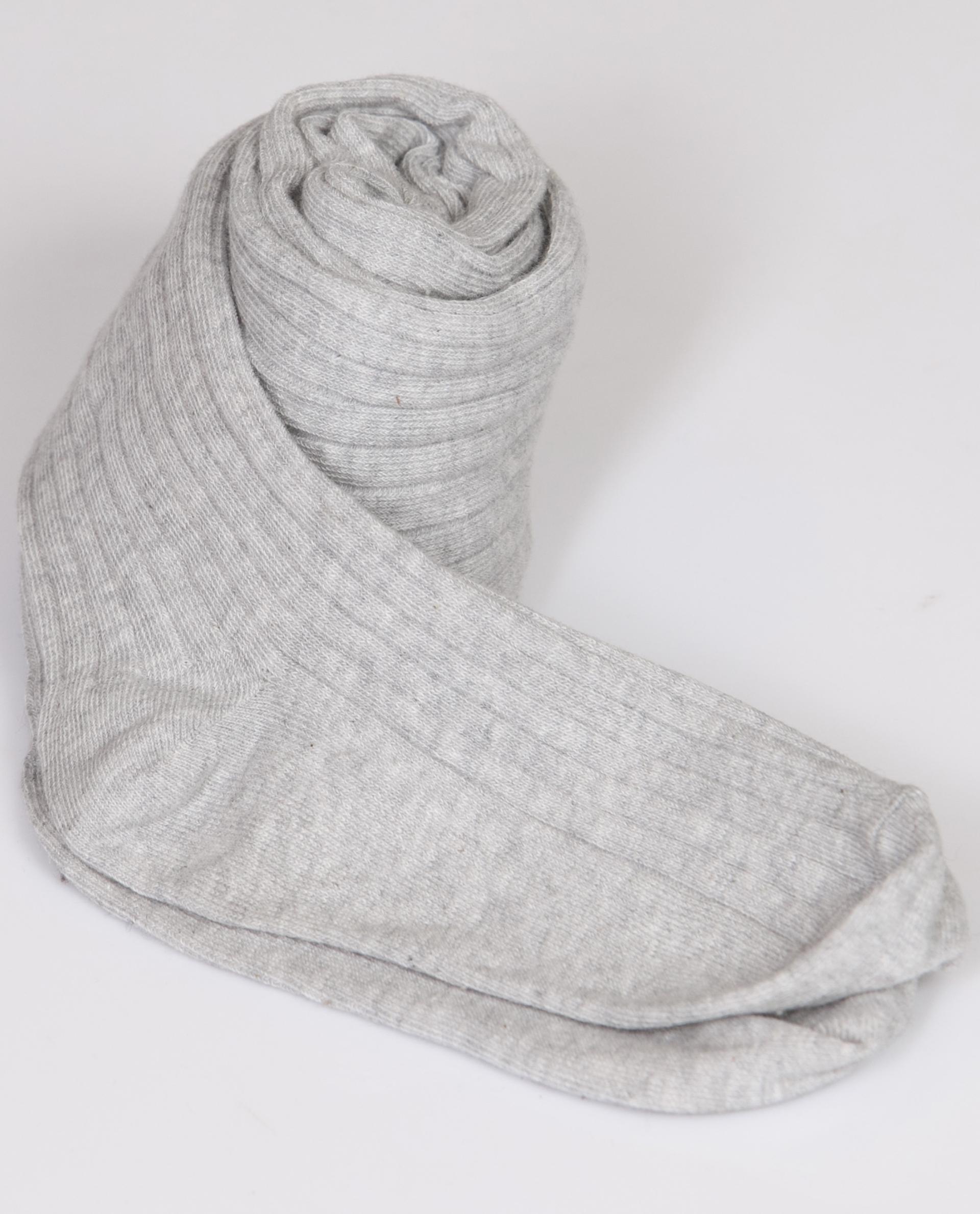 Collants côtes plates gris chinés