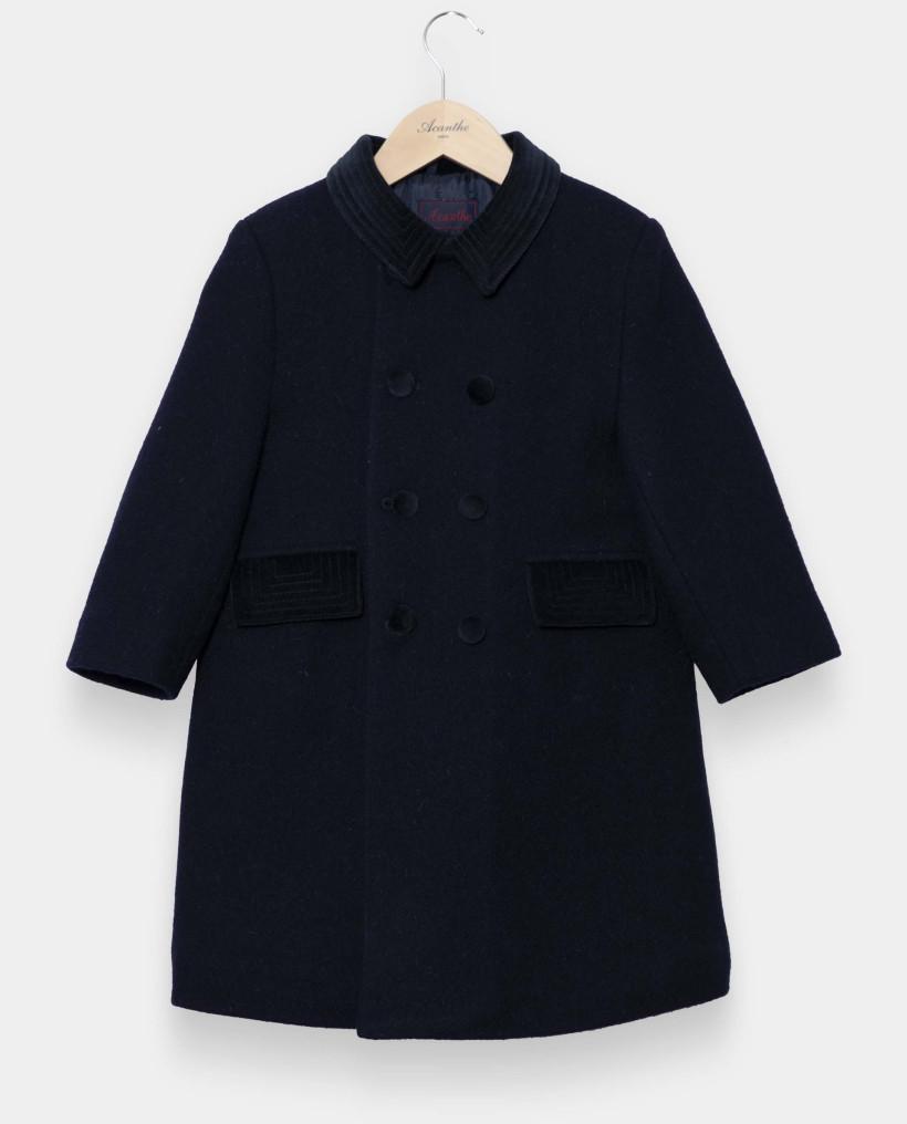 Manteau anglais marine