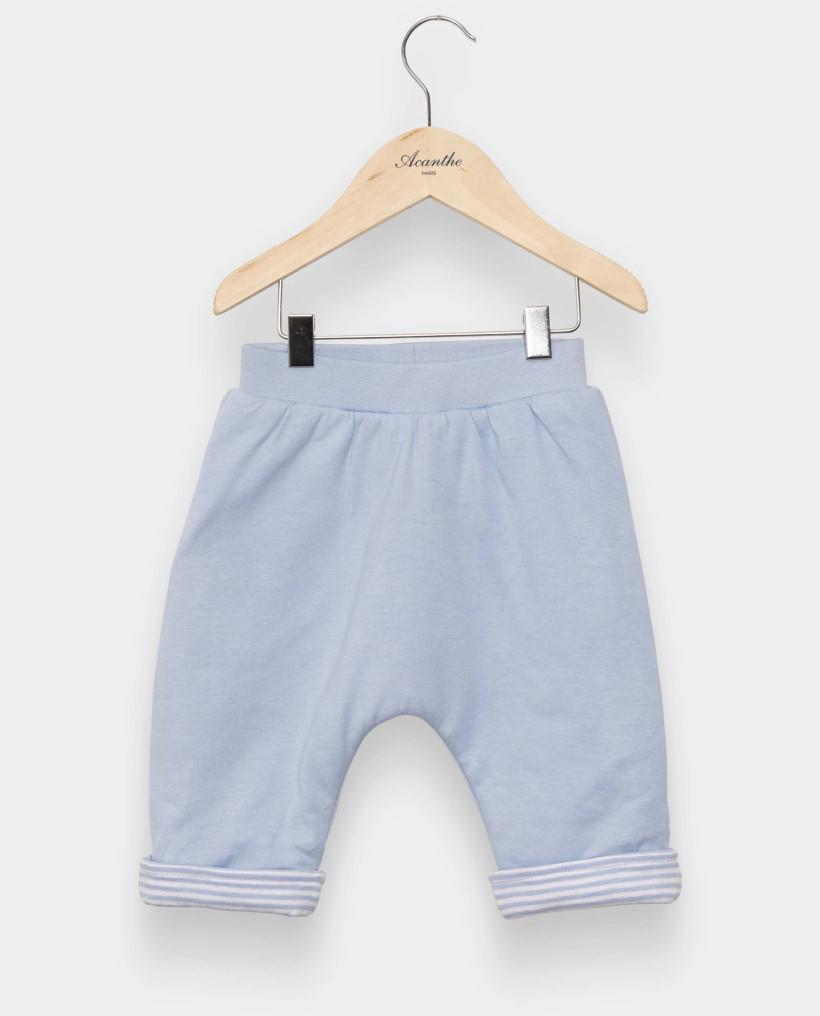 Pantalon molletonné ciel