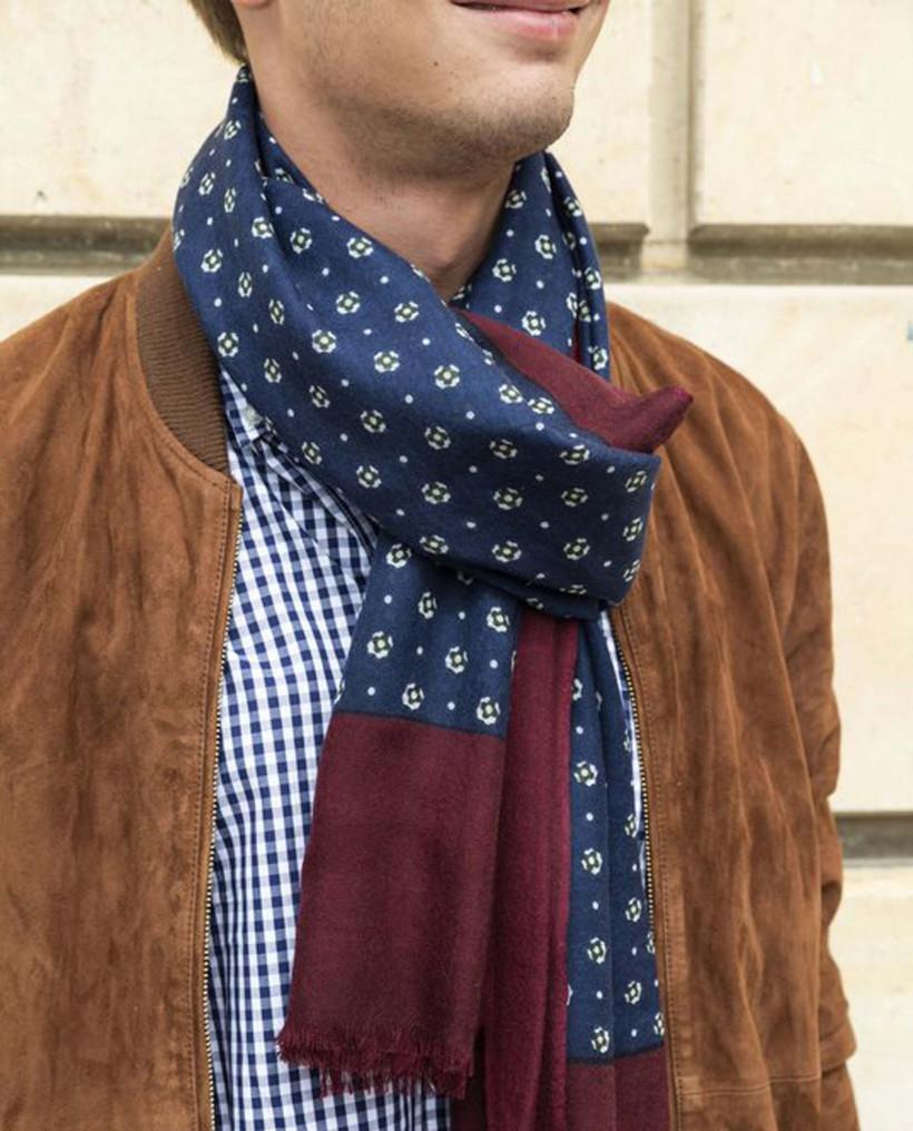 Echarpe laine imprimé cravate