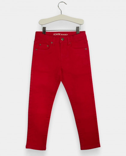 Pantalon 5 poches stretch 12/14 ans