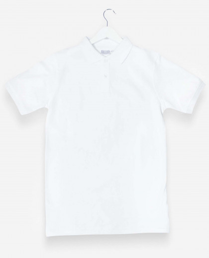 Polo manches courtes blanc*