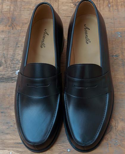 Mocasssin classique cuir noir