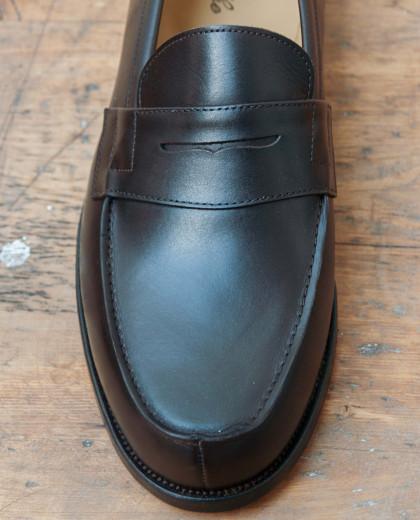 Mocassin classique cuir marron foncé