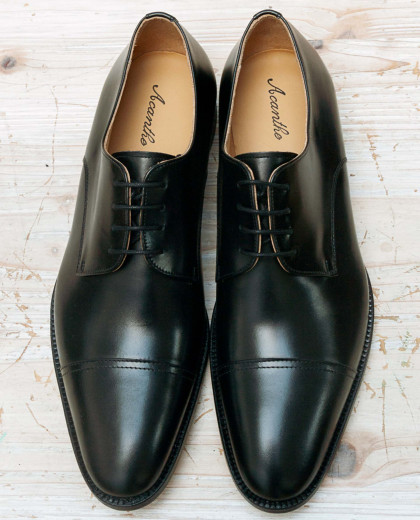 Derby cuir noir