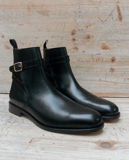 Boots une boucle cuir noir