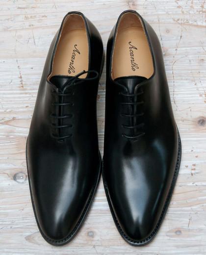 One cut cuir noir