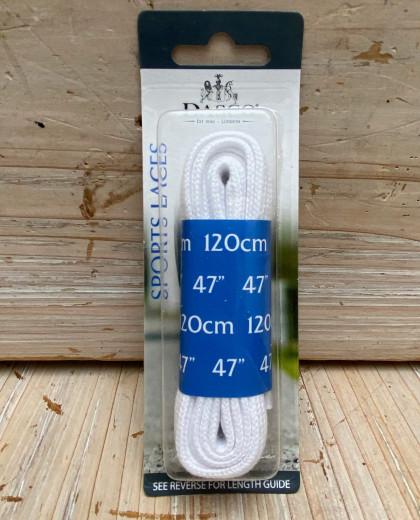 Une paire de lacets de 120 m plat moyen sport blanc
