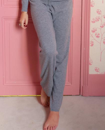 Pantalon gris 100% cachemire