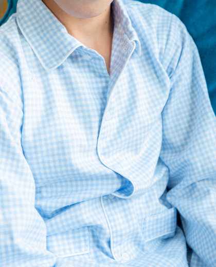 Pyjama vichy ciel 12-14 ans