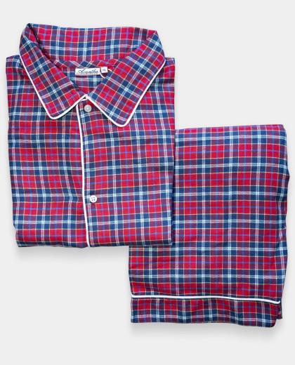 Pyjama écossais rouge