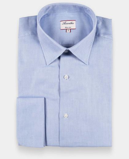 chemise Col Italien poignet mousquetaire royal oxford