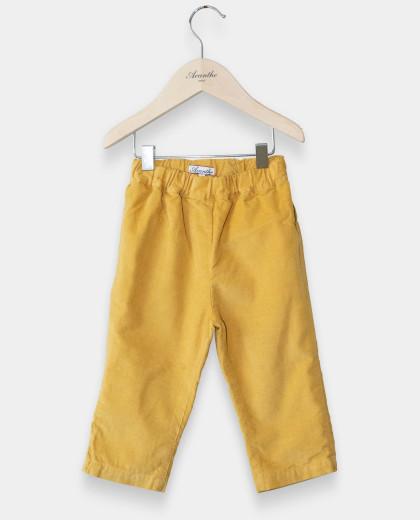 Pantalon velours jaune