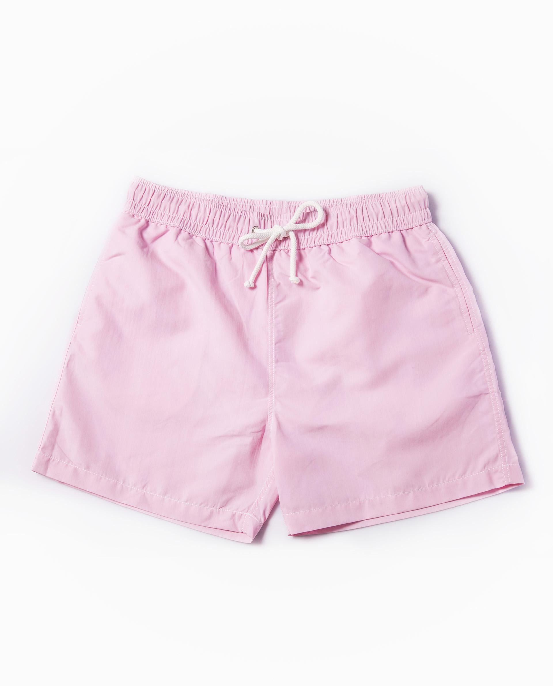 Short de bain rose pâle